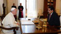 Le Pape François et le président du Venezuela Nicolas Maduro lors d'une audience privée au Vatican, le 17 Janvier 2013.