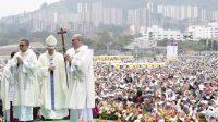 Messe à Medellin, en Colombie, le 09/09/2017.