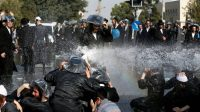 Des juifs ultra-orthodoxes manifestent contre le service militaire obligatoire, à Jérusalem, le 17 septembre 2017