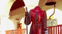 La statue de St Junipero Serra décapitée à Santa-Barbara, Californie