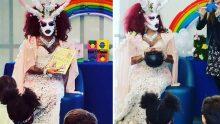 Un démon drag-queen pour les enfants de la bibliothèque publique de Michelle Obama