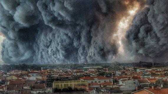 pompier Vieira Leiria image incendie forêt nationale