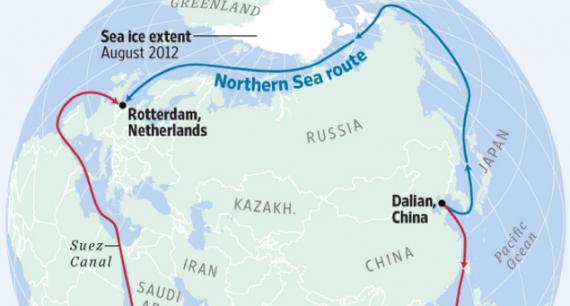 Chine Russie développer Route soie glacée