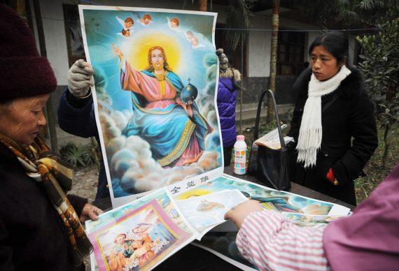 Chine chrétiens portraits Jésus Xi Jinping