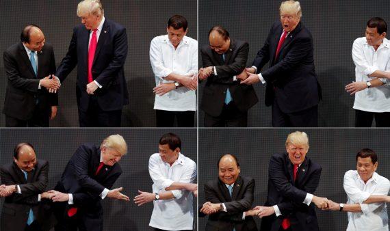 Poignée mains ratée chaîne union Donald Trump ASEAN