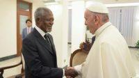 Le pape François s'est réuni avec les «Global Elders» – les «Sages» fondés par Mandela – pour évoquer le changement climatique et la migration