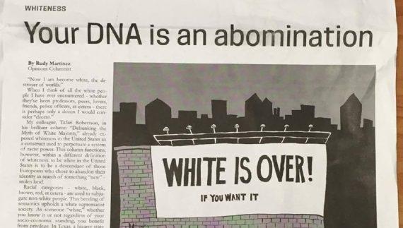 racisme anti Blanc ADN abomination