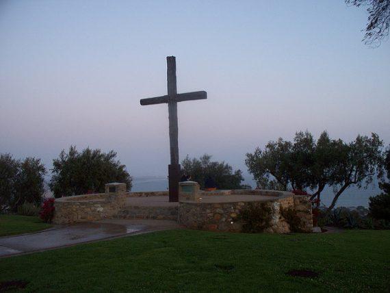 Miracle croix Serra Ventura Californie épargnée incendies