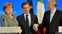 Monti nie l'existence d'un complot de Bruxelles, Merkel et la Deutsche Bank contre Berlusconi en 2011