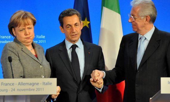 Monti Berlusconi 2011 Bruxelles Merkel Deutsche Bank