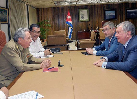 Raul Castro président compagnie pétrolière russe Rosneft