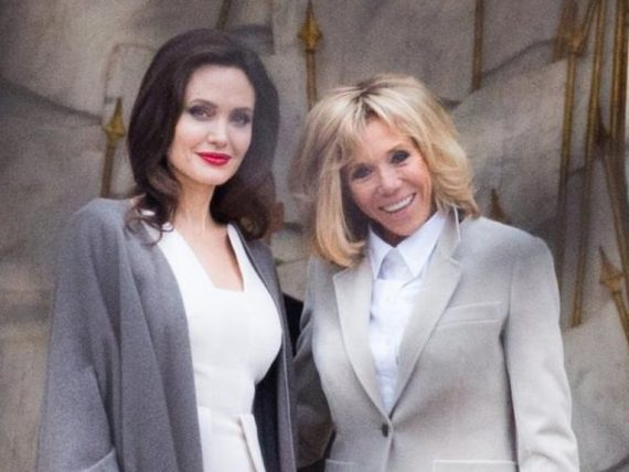 Brigitte Jolie L'elysée Macron Reçoit Angelina À A5RjL4