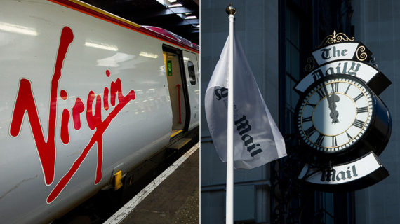 Daily Mail Virgin Trains Censure LGBT immigration