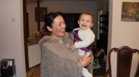 Silje Garmo et sa fille Eira en Pologne, mardi 16 janvier