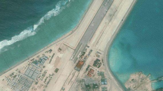 Protestations diplomatiques Chine îles artificielles militarisé mer Sud