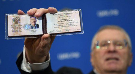 Vladimir Jironovski premier candidat élection présidentielle russe 2018 rouge brun