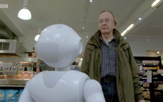 robot licencié supermarché Edimbourg