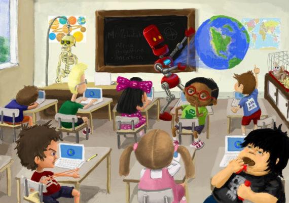 robots remplacer professeurs 2028 éducation