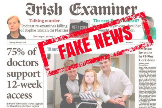 75 médecins Irlande avortement Fake news sondage bidon