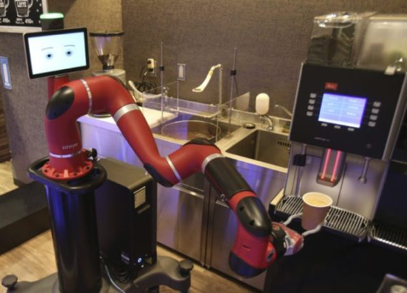 barista robot Japon café