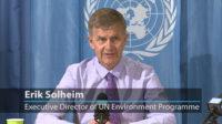 Erik Solheim du Programme de l'ONU pour l'Environnement (PNUE) prône un changement de discours sur le changement climatique