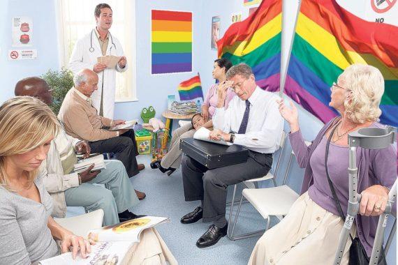 revue britannique médecins généralistes drapeau arc ciel salles attente