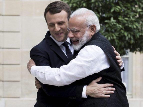 Alliance solaire internationale védas Emmanuel Macron Narendra Modi