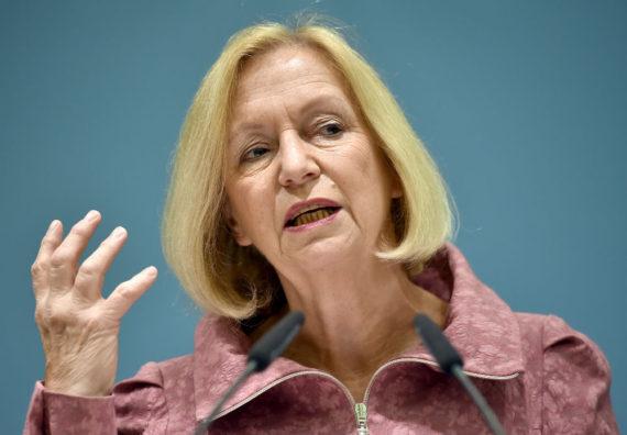 Johanna Wanka loi constitutionnelle critiquant AfD ministre allemand éducation