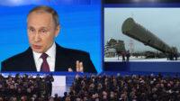 Poutine présente le Kinzhal, missile nucléaire volant à dix fois la vitesse du son, et des armes à propulsion nucléaire