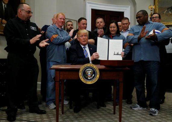 Trump importations acier aluminium Chine Elon Musk démocrates