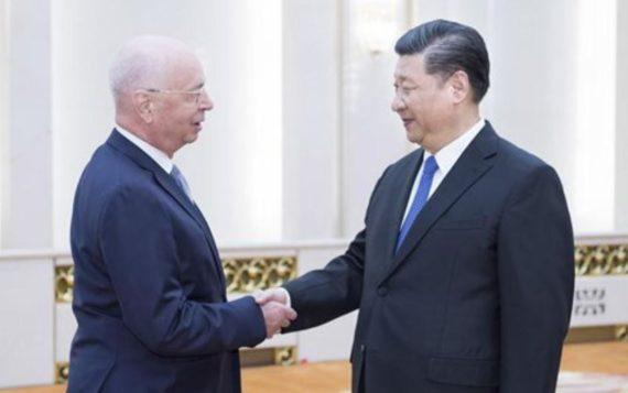 Davos collusion Chine Forum économique mondial Xi Jinping Klaus Schwab