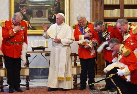 chevaliers Ordre Malte pape François