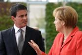 Zone euro: le satisfecit poli d'Angela Merkel à Manuel Valls