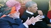 La photo : Obama encore surpris en train de mâcher du chewing-gum en Inde
