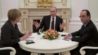 Ukraine: Vladimir Poutine a poliment écouté Angela Merkel et François Hollande