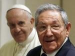Raul Castro reçu par le pape François: le président de Cuba reste communiste mais envisage de revenir à l'Eglise