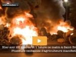 Nuit de la détresse: En Bretagne, manifestation des agriculteurs en désarroi LES PREMIERES IMAGES