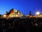 Grosse mobilisation du mouvement anti-islamisation PEGIDA à Dresde en Allemagne; un manifestant grièvement blessé