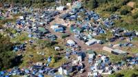 La photo: Des vues aériennes de la «nouvelle jungle» de Calais qui accueille de très nombreux clandestins.