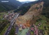 La photo: 9 personnes sont mortes et 28 autres portées disparues dans un éboulement qui s'est produit sur le village de Lidong