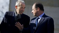 Le Président de la République François Hollande et l'ancien Ministre de la Justice Robert Badinter.