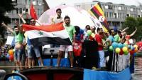 « Réfugiés LGBT » aux Pays-Bas durant la Gay Pride, le 1er août 2015.
