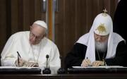 Le pape et le patriarche