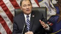 Le gouverneur républicain de l'Utah, Gary R. Herbert, lors d'une conférence de presse à Salt Lake City en février.