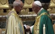 La rencontre entre le pape François et l'archevêque anglican de Cantorbéry, Justin Welby