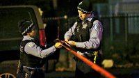 Chicago : des policiers sécurisent une zone où vient d'être commis un crime en novembre 2016