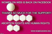 Facebook rétablit une page vendant des pilules pour avortements clandestins.<br>Et celle de reinformation.tv?