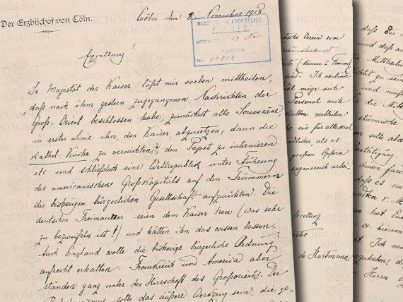 lettre complot franc maçonnerie monarchies Eglise Michael Hesemann Archives Vatican