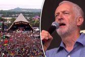 La photo&nbsp;:<br>Corbyn comme Macron&nbsp;:<br>à l'ombre d'une pyramide