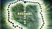 Ratuj różańcem Polskę i Świat Sauve la Pologne et le monde avec le Rosaire-----Różaniec do granic(inscription en forme de croix sur la Pologne): Rosaire aux frontières